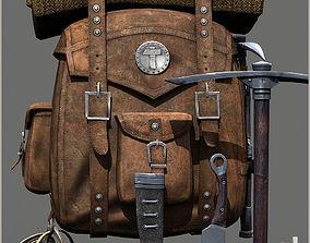 Survival Old Backpack 3D model