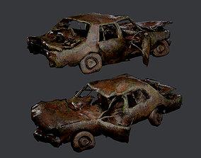 Apocalyptic Damaged Destroyed Vehicle 3D asset 4