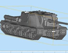 ISU-122 Anti-Tank Highly Detailed 3D print model