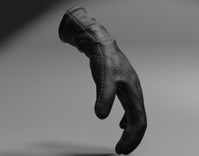 3D model Leather glove low-poly