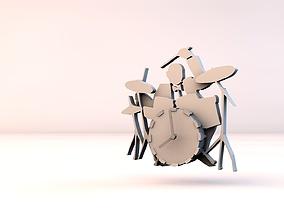 Jazz clock 3D printable model