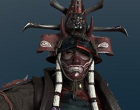Undead Samurai 3D asset