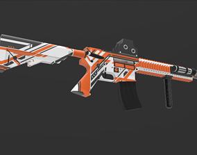 M4P4 gun 3D model