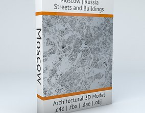 3D model Moscow Streets and Buildings