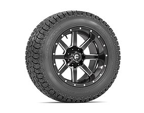 OFF ROAD WHEEL AND TIRE 7 4x4 3D model