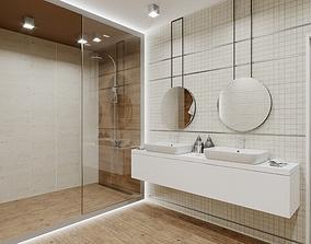 3D model Minos Bathroom Scene for Cinema 4D and Corona