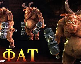 Demon Fat 3D asset