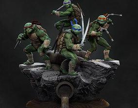 3D print model Teenage mutant ninja turtles diorama TMNT