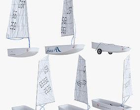 3D model Sailboat Boat