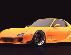 3D model Mazda RX-7 custom modified