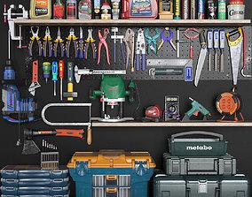 garage tools set 3 3D asset realtime