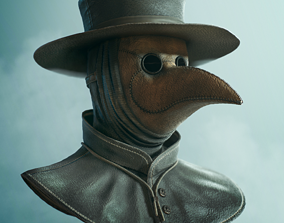 Lowpoly Plague Doctor Mask 3D model