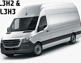 3D Mercedes Sprinter 2018 long L2H3 and L3H3