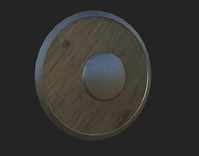 Medieval fantasy shield 3D asset