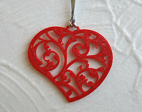 3D printed lace heart