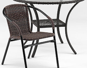 Brigance Bistro Table and Acadian Chair 3D