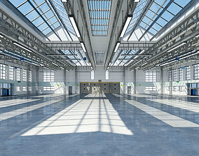 factory WAREHOUSE INTERIOR AND EXTERIOR 3D MODEL