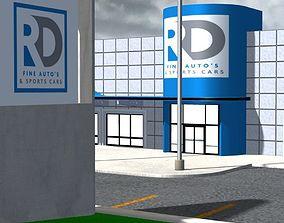 3D model Car Dealership for Poser