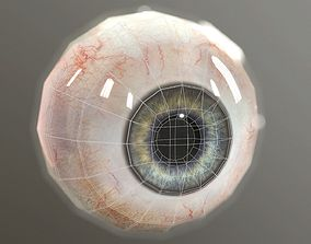 3D asset Eye low polygonal Eyes for games