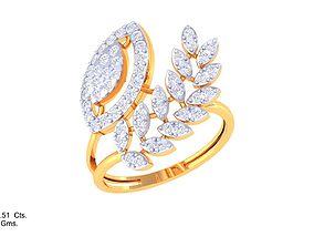 3D print model ring diamond DL-45