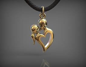 Pendant MOTO LOVE 01 3D print model