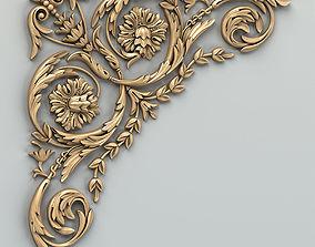 3D Carved decor corner 010
