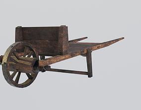 Medieval cart Gameready 3D asset