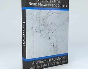 Urumqi Road Network and Streets 3D model network