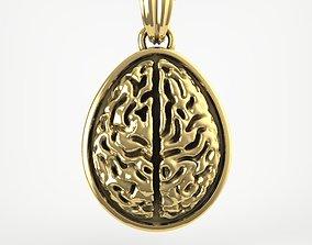 Egg pendant with Brain or Walnut 3D printable model
