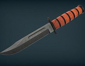 3D model Ka-Bar USMC Fighting Knife