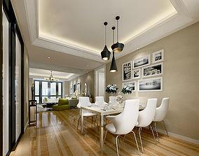 living Modern House 3dmax