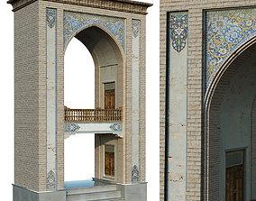 3D model old islamic turkish arch set 143