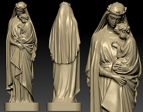 Virgin Mary family 3D print model