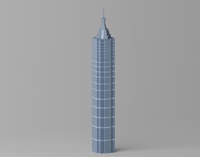 3D model Shanghai Jin Mao Tower 1