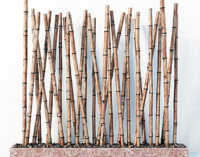 3D Bamboo decor fundament random