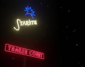 The last Starfighter Trailer Court sign post 3D asset
