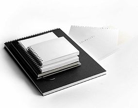 3D Notebooks Set office