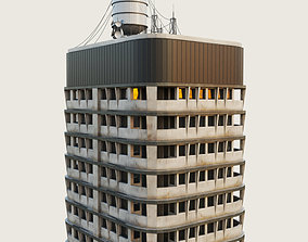 3D model Building Skyscraper City Town Downtown Office 3