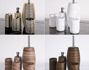3D model bathroom accessories toilet