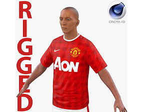 Soccer Player Manchester United Rigged 2 for Cinema 4D 3D