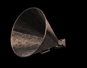 old megaphone 3D asset