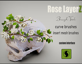 Rose LaerZ Zbrush tool 3D asset