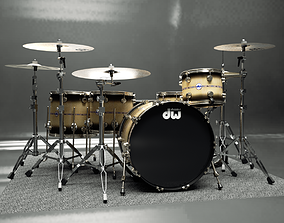 Drumkit - DW drums 3D model