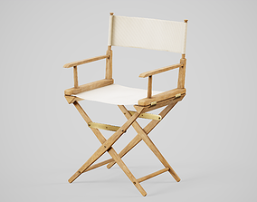 3D asset Director Chair PBR Game Ready