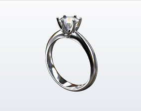 3D print model jewelry luxury tiffany engagement ring