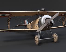 3D asset French Nieuport 11 Airplane WW1 WWI