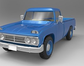 old Toyota truck 3D model