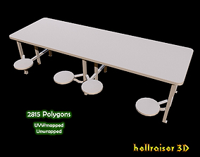 3D model Cafeteria Table