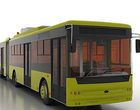 3D Trolleybus Bogdan T90110
