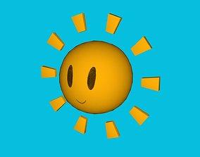 Smile Sun 3D asset